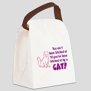 bitchcatclock Canvas Lunch Bag