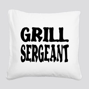 grill sergeant Square Canvas Pillow