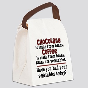 Chocolate & Coffee Canvas Lunch Bag