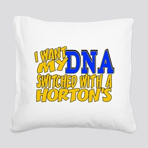 DNA Switch - Horton Square Canvas Pillow