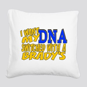 DNA Switch - Brady Square Canvas Pillow