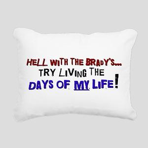 DAYSOFMYLIFEbl Rectangular Canvas Pillow