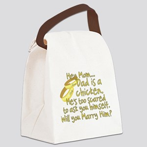 Will you marry Daddy? Canvas Lunch Bag