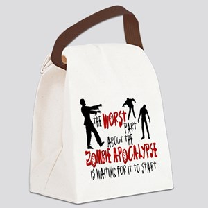 Zombie Apocalypse Waiting Canvas Lunch Bag