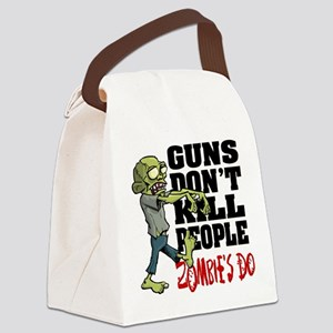 Guns Don't Kill People - Zombie's Canvas Lunch Bag