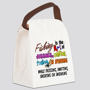 The Art of Fishing Canvas Lunch Bag