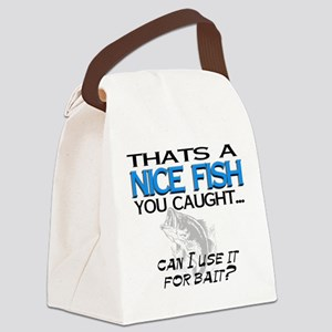 Nice Fish Canvas Lunch Bag