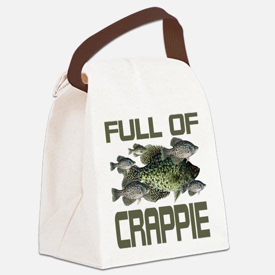 Full of Crappie Canvas Lunch Bag