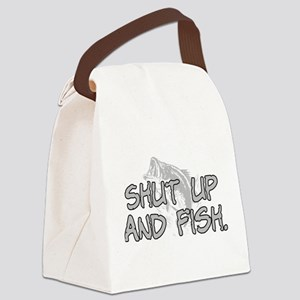 Shut up and fish. Canvas Lunch Bag