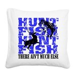 Hunt Fish Square Canvas Pillow