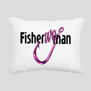 FisherWoman Rectangular Canvas Pillow