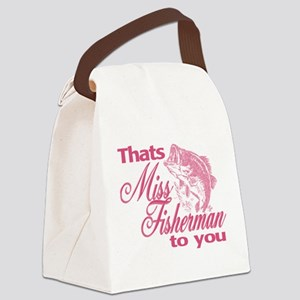 Miss Fisherman Canvas Lunch Bag