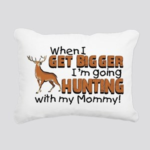 Hunting With Mommy Rectangular Canvas Pillow