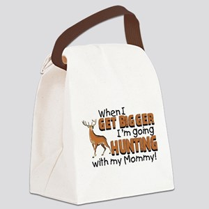 Hunting With Mommy Canvas Lunch Bag