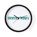 Grocery Money Wall Clock