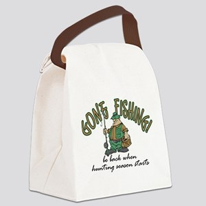 Gone Fishing - Hunting Season Canvas Lunch Bag