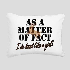 Hunt Like A Girl Rectangular Canvas Pillow