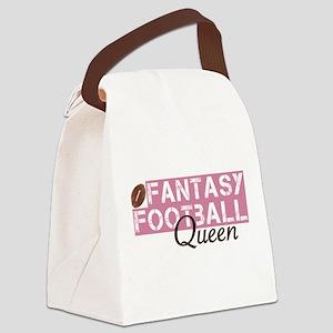 Fantasy Football Queen Canvas Lunch Bag