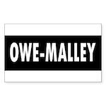 3-owe-malley Sticker (Rectangle 50 pk)