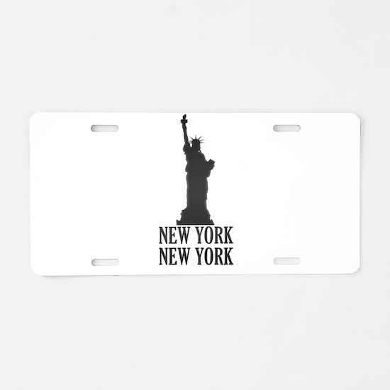 NY Liberty Aluminum License Plate