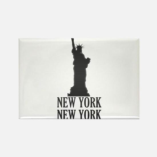 NY Liberty Rectangle Magnet