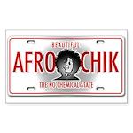 Afro Chik Plate Sticker (Rectangle 50 pk)