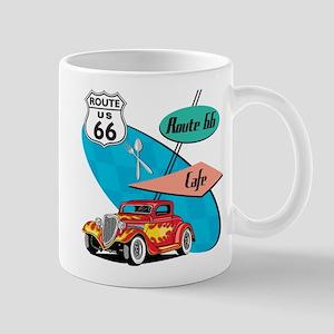 Red Hot Rod Route 66 Diner Mug