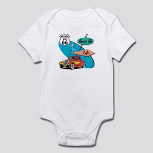 Red Hot Rod Route 66 Diner Infant Bodysuit