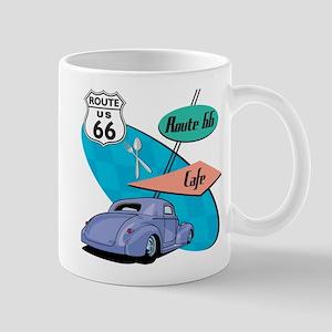 Hot Rod Route 66 Cafe Diner Mug