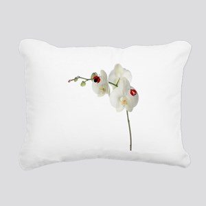 Lady Bugs Orchid Rectangular Canvas Pillow