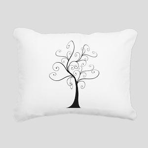 Swirly Tree Rectangular Canvas Pillow