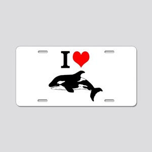 Whale Song Aluminum License Plate