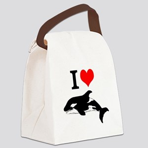 Whale Song Canvas Lunch Bag