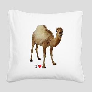 I love camel toe - Square Canvas Pillow