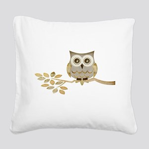 Apothecary Owl Branch 1 copy Square Canvas Pil