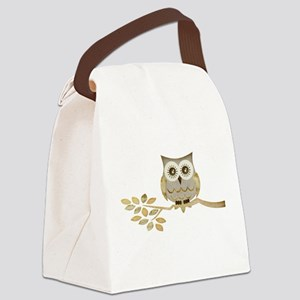 Apothecary Owl Branch 1 copy Canvas Lunch Bag