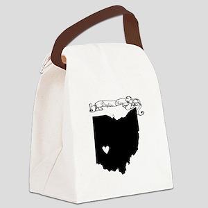 Dayton Ohio Canvas Lunch Bag