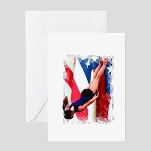 Trampoline Gymnast Greeting Card