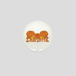 Halloween Pumpkin Charlotte Mini Button