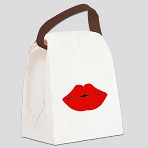 lips Canvas Lunch Bag