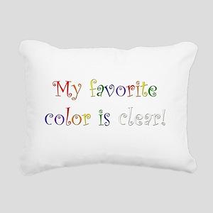 Favorite Color Clear Rectangular Canvas Pillow