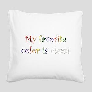 Favorite Color Clear Square Canvas Pillow