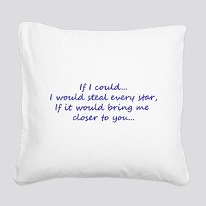 Miss You Square Canvas Pillow