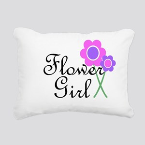 Purple Daisy Flower Girl Rectangular Canvas Pi