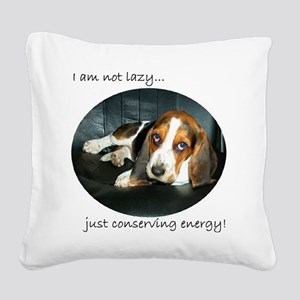 Bassett Love Square Canvas Pillow