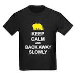 Keep Calm and Back Away Slowly Kids Dark T-Shirt