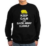 Keep Calm and Back Away Slowly Sweatshirt (dark)