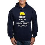 Keep Calm and Back Away Slowly Hoodie (dark)