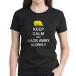 Keep Calm and Back Away Slowly Women's Dark T-Shir
