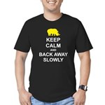Keep Calm and Back Away Slowly Men's Fitted T-Shir